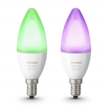 2er SET -  LED RGB dimmbare Glühbirne Philips HUE WHITE AND COLOR AMBIANCE E14/6W/230V