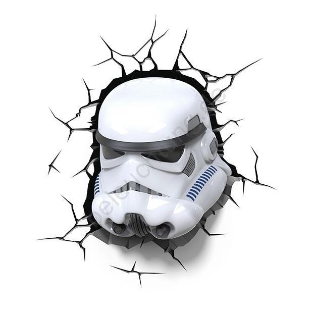 kanlux 15218 3d kinderleuchte sw stormtrooper led 3xaa. Black Bedroom Furniture Sets. Home Design Ideas