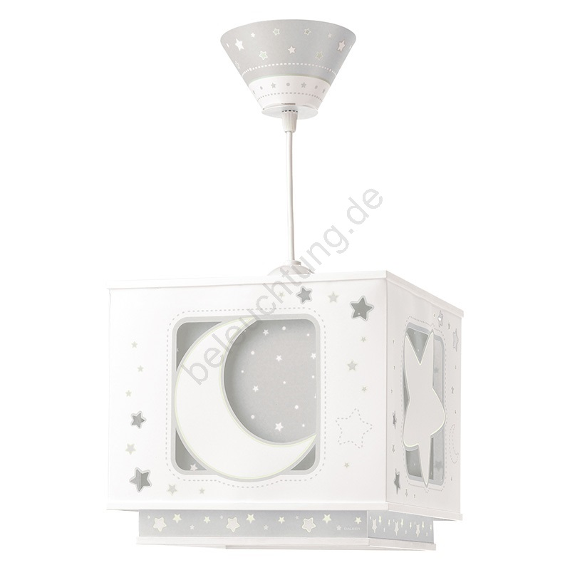 Dalber 63232E   Kronleuchter Für Kinder MOON LIGHT 1xE27/60W/230V