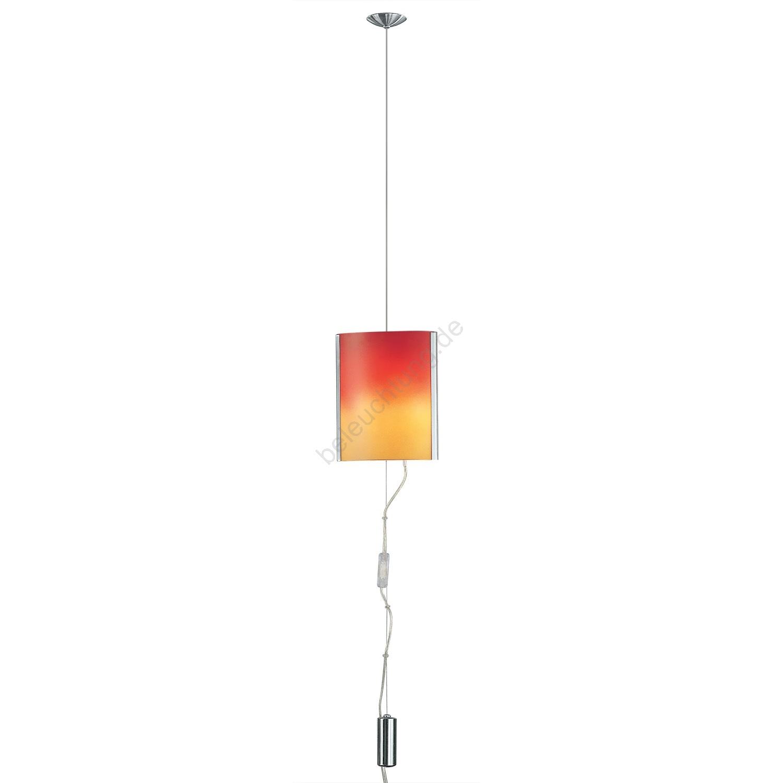 eglo 83789 kronleuchter mobile nickel rot orange. Black Bedroom Furniture Sets. Home Design Ideas
