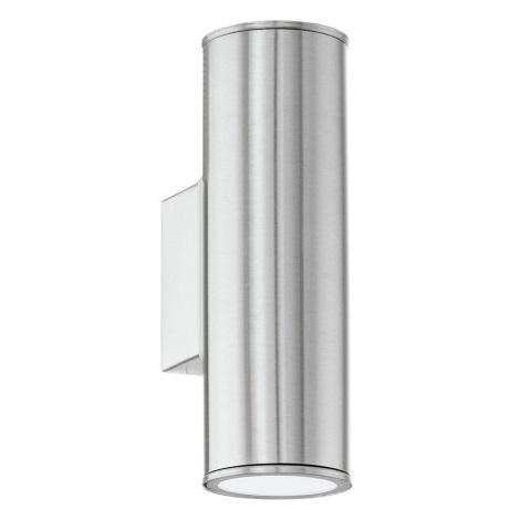 EGLO 84002 - LED Außenwandleuchte RIGA 2xGU10/4W + 2xGU10/50W GRATIS