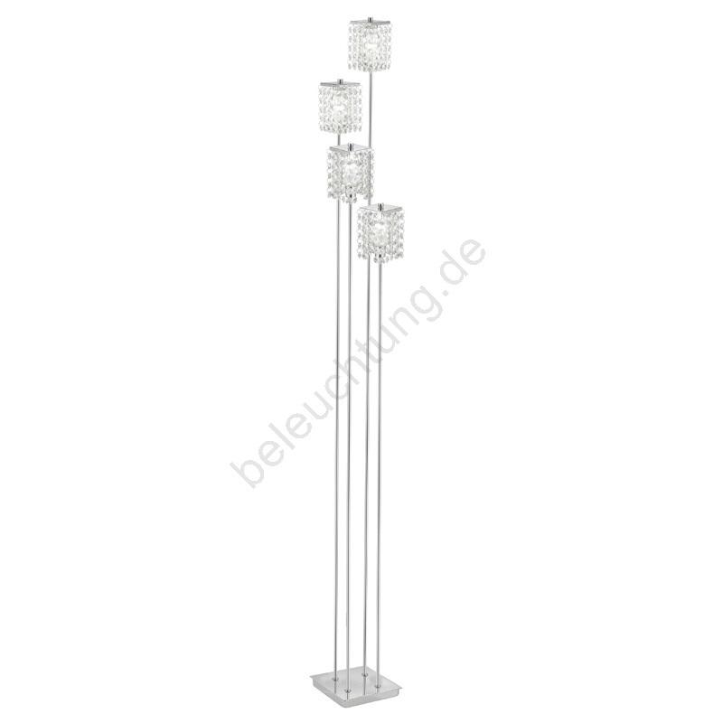 eglo 85335 die stehlampe pyton 4xg9 33w 230v das kristall beleuchtung. Black Bedroom Furniture Sets. Home Design Ideas