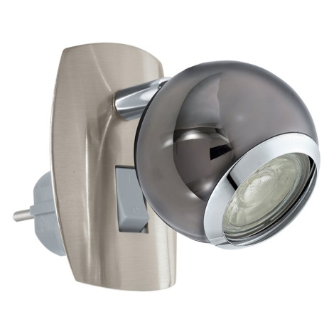 Eglo 96841 - LED Wandlampe in Steckdose BIMEDA 1xGU10/3,3W/230V grau
