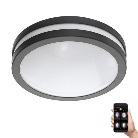 Eglo 97237 - LED Badezimmer Deckenleuchte LOCANA-C LED/14W/230V anthrazit