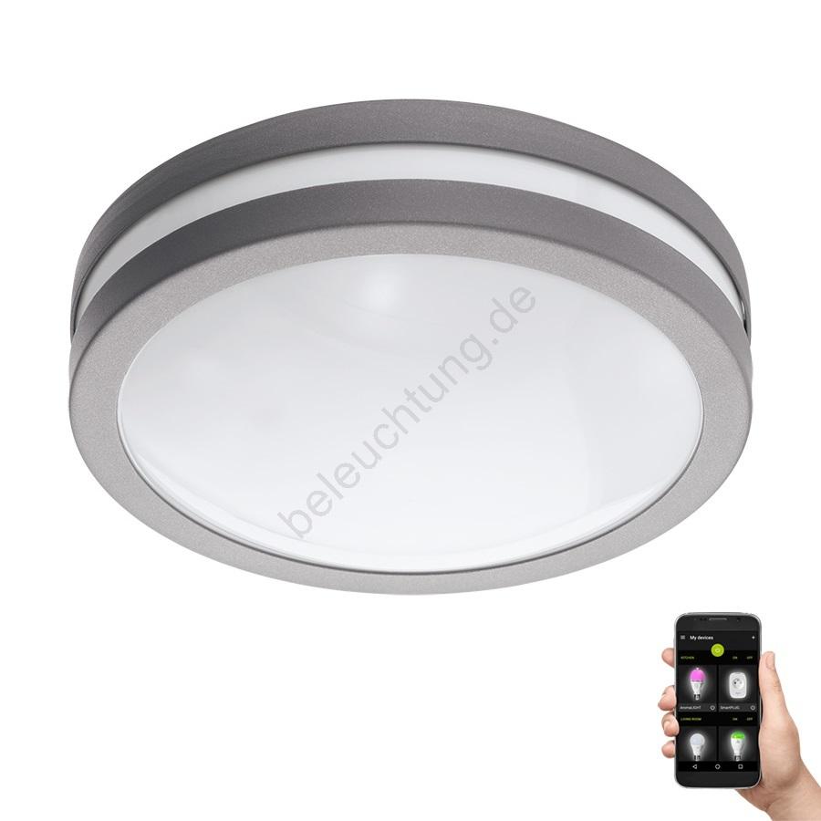 Eglo 97299 - LED Badezimmer Deckenleuchte LOCANA-C LED/14W/230V grau ...