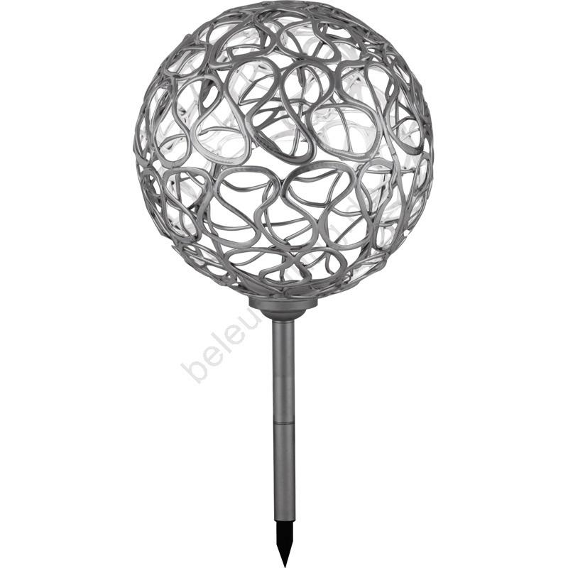 globo 33753 solarleuchte solar kugel 4xled 0 05 w 2v. Black Bedroom Furniture Sets. Home Design Ideas