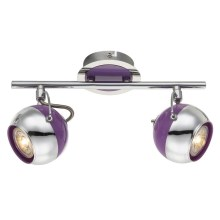 Globo 57887-2 - LED Spotlight SPLASH 2xGU10/5W/230V violett