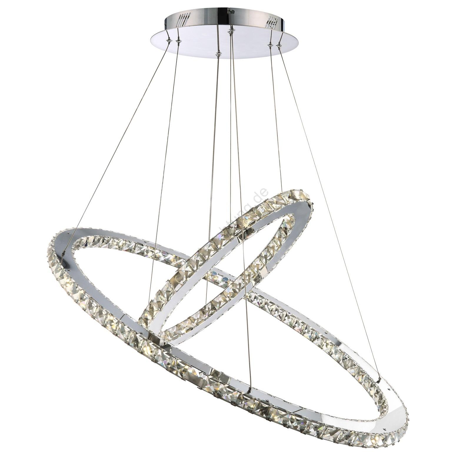 Globo 67034-60 - LED-hängende Kristalllampe MARILYN 60xLED/1W ...