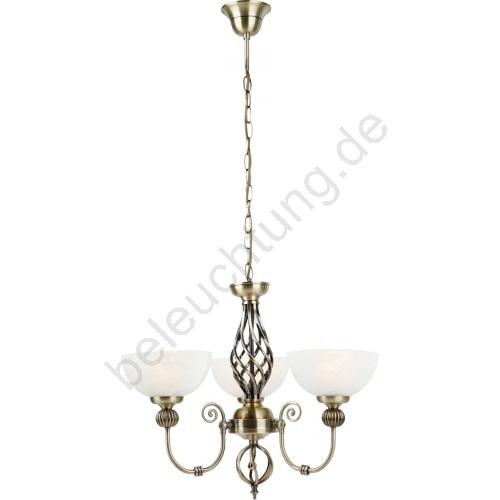 globo 68850 3 rustikale kronleuchter olivia 3xe14 40w. Black Bedroom Furniture Sets. Home Design Ideas