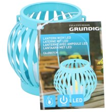 Grundig - LED Laterne LED/1xCR2032 blau