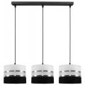 Hängeleuchte CORAL 3xE27/60W/230V schwarz-weiß