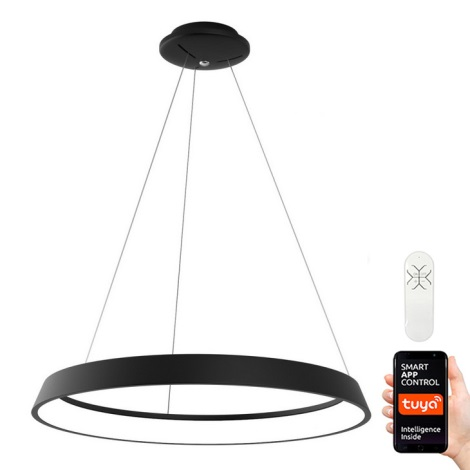 Immax NEO - LED Dimmbare Hängeleuchte LIMITADO LED/39W/230V 60 cm schwarz Tuya