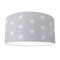 Kinder Deckenleuchte STARS GREY 2xE27/60W/230V grau