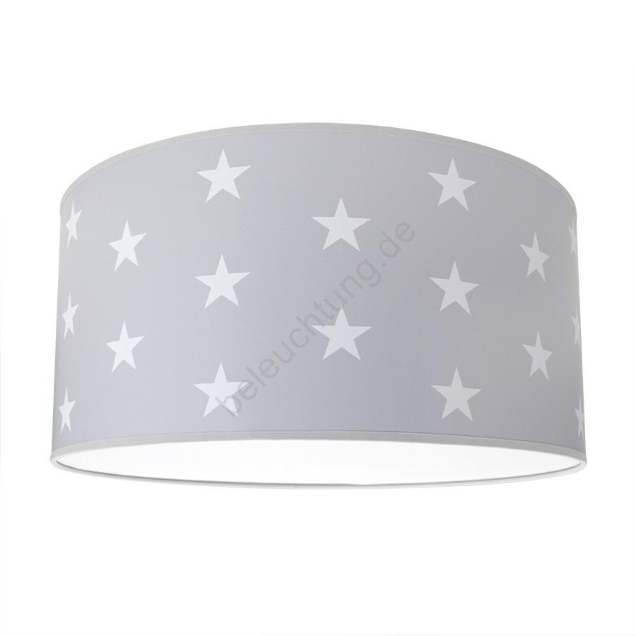 Kinder Deckenleuchte Stars Grey 2xe2760w230v Grau
