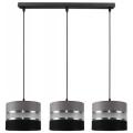 Kronleuchter an Schnur CORAL 3xE27/60W/230V schwarz und grau