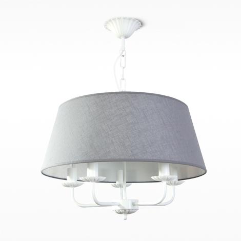 kronleuchter auf der kette viola 5xe14 40w 230v grau. Black Bedroom Furniture Sets. Home Design Ideas