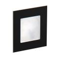 LDST AN-01-SC-BC9 - LED Treppenbeleuchtung ANGEL 9xLED/1,2W/230V schwarz matt 3500K