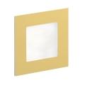 LDST AN-01-SZ-BZ9 - LED Treppenbeleuchtung ANGEL 9xLED/1,2W/230V Gold 6500K