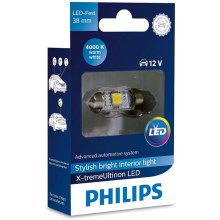 LED Autoglühbirne Philips X-TREME ULTINON 128584000KX1 LED SV8.5-8/0,8W/12V 4000K