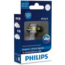 LED Autoglühbirne Philips X-TREME ULTINON 129416000KX1 LED SV8.5–8/0,8W/12V 6000K