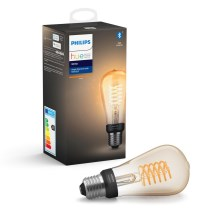 LED Dimmbare Glühbirne Philips HUE WHITE FILAMENT ST64 E27/7W/230V
