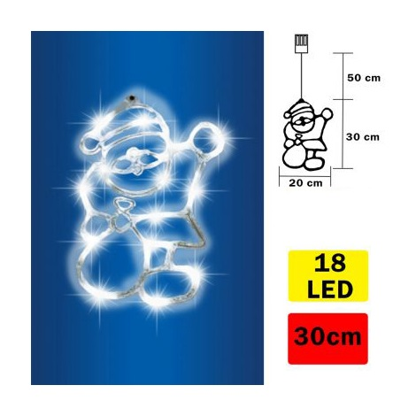LED Fensterdekoration Santa Claus 18xLED/3xAA