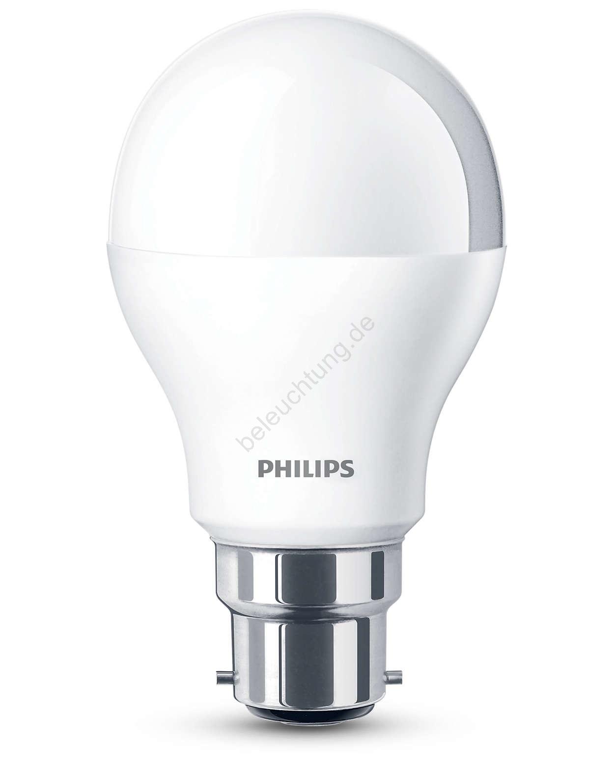 LED Glühlampe B22/5,5W/230V - Philips 8718291763932 | Beleuchtung.de