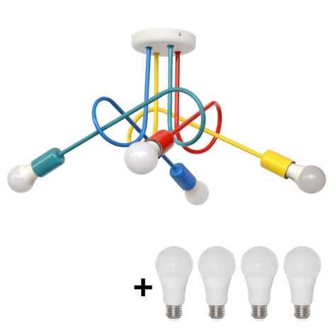 LED Kinder Deckenleuchte OXFORD 4xE27/10W/230V