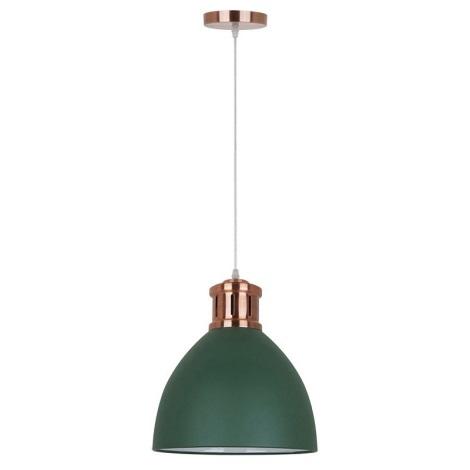LED Kronleuchter 1xE27/10W/230V grün 30cm