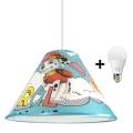 LED-Kronleuchter an Schnur PAW PATROL 1xE27/15W/230V