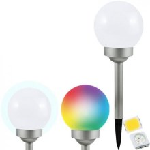 LED RGB Solarlampe BALL LED/0,2W/AA 1,2V/600mAh IP44