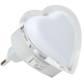 LED Steckdose Nachtlicht 0,4W/230V weißes Herz