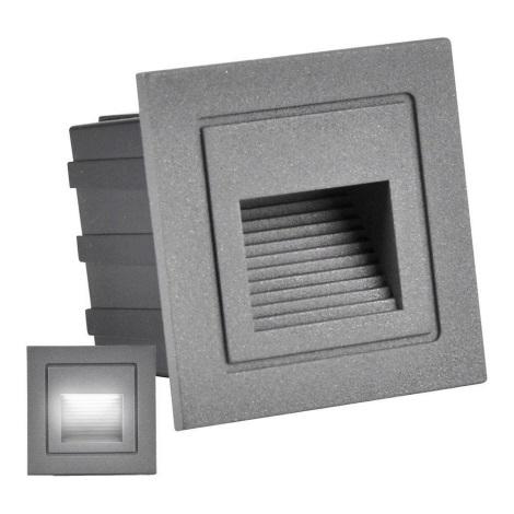 LED Treppenleuchte für Außen Q6 LED/3W/230V IP44