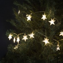 LED Weihnachtskette STAR LED/3,6W/230V IP44