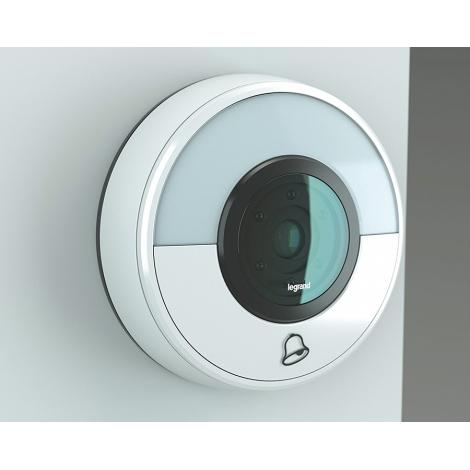 Legrand 94230 - kabellose Klingel + WIFI Kamera ELIOT weiß