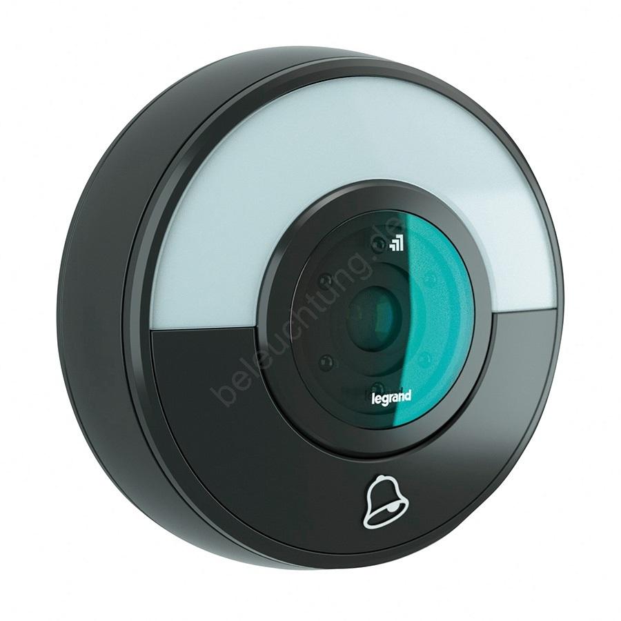 legrand 94231 - kabellose klingel + wifi kamera eliot schwarz