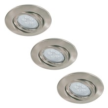 Paulmann 92028 - SET 3x LED Einbauleuchte QUALITY LINE 3xGU10-LED/6,5W