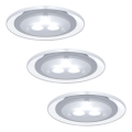 Paulmann 98352 - SET 3x LED Einbauleuchte MICRO LINE 3xLED/3W/230V/12V