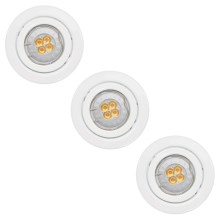 Paulmann - Nice Price 3323 - SET 3x LED Einbauleuchte 3xGU10-LED/3,5W/230V