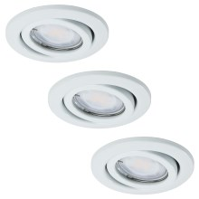 Paulmann - Nice Price 3443 - SET 3x LED Einbauleuchte BASIC 3xGU10-LED/3W/230V