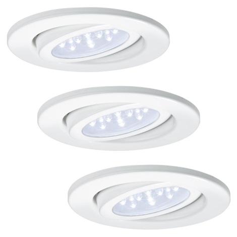 Paulmann - Nice Price 93004 - SET 3x LED Einbauleuchte BASIC 3xLED/0,8W/230V
