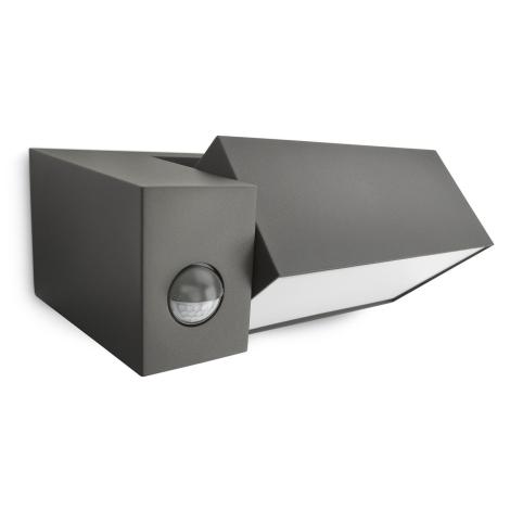 philips 16943 93 16 au enleuchte mit sensor mygarden border 1xe27 23w 230v. Black Bedroom Furniture Sets. Home Design Ideas