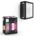 Philips 17430/30/P7 - LED RGB Außen-Wandleuchte HUE IMPRESS 2xLED/8W/230V IP44