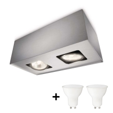 Philips 56232/48/PN - LED Spotlight TEMPO 2xGU10/6W/230V