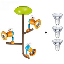 Philips 56313/55/16 - LED Kinder-Spotlight MYKIDSROOM BIRDEY 3xGU10/3,5W/230V