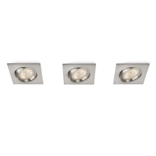 Philips 59080/17/16 - set 3x LED Einbauleuchte MYLIVING GALILEO 3xLED/3W/230V