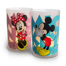 Philips 71712/55/16 - LED Tischlampe CANDLES MICKEY & MINNIE MOUSE (2 Stück Satz.) 1xLED/1,5W/230V