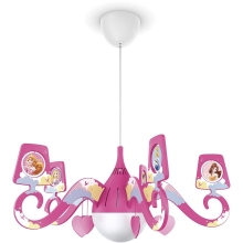 Philips 71757/28/16 - Kinder Kronleuchter DISNEY PRINCESS 1xE27/15W/230V