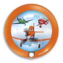 Philips 71765/53/16 - Kinder LED Orientierungsleuchte DISNEY PLANES 1xLED/0,06W/3V