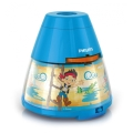 Philips 71769/05/16 - Kinder Tischlampe und Projektor DISNEY JAKE PIRATE 1xLED/0,1W/3xAA